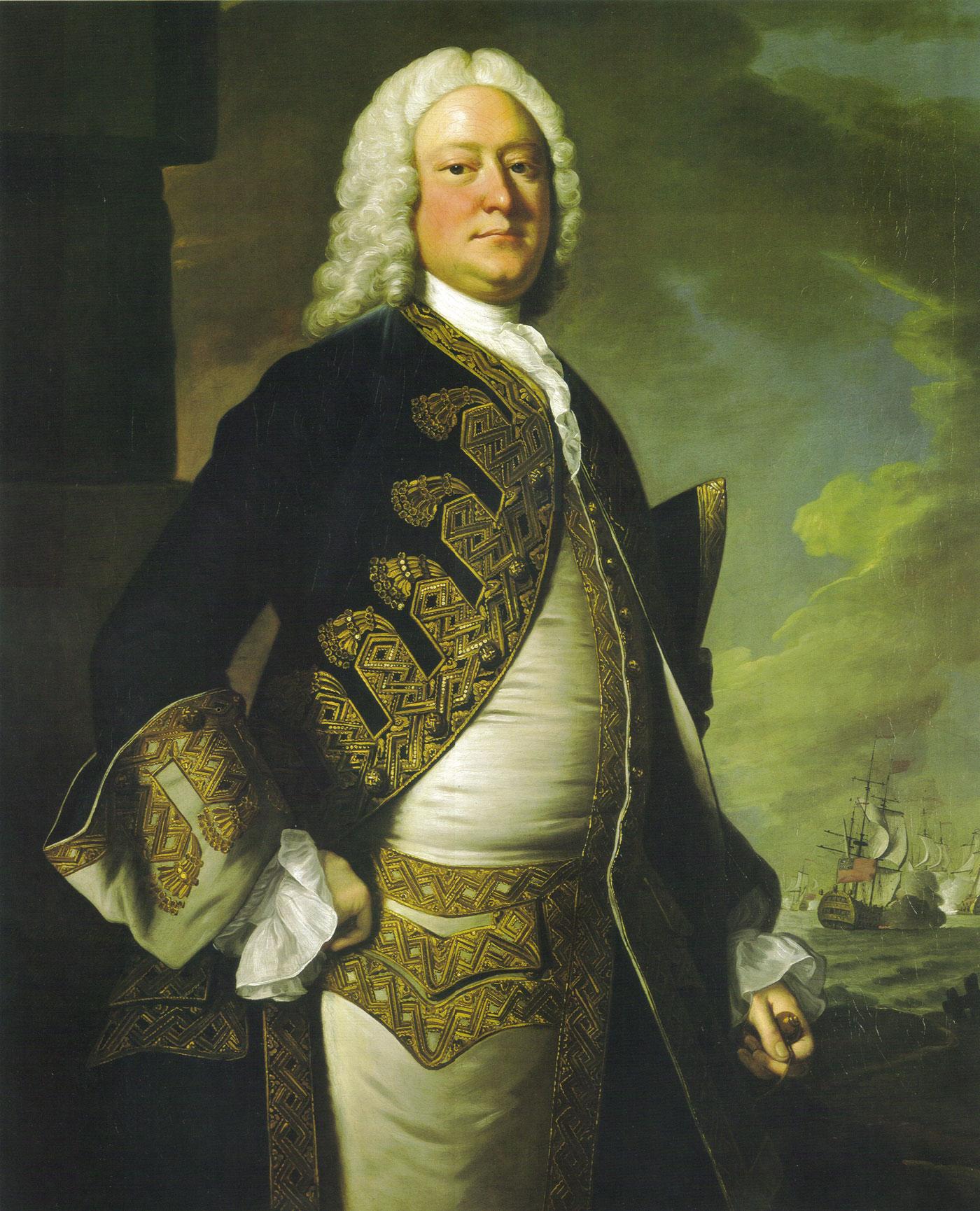 Admiral John Byng 1704 57 Of The Blue