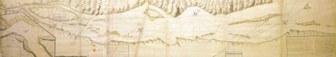 James Cook Chart of the St Lawrence to Quebec by Order of Vice Admiral Charles Saunders 1759.