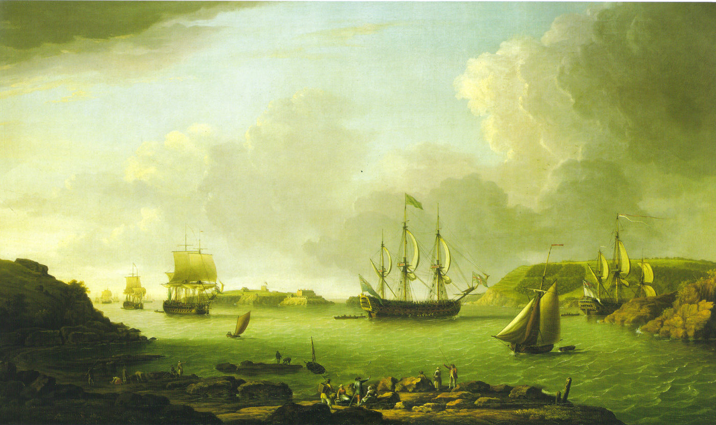 return-of-a-fleet-into-plymouth-harbour-