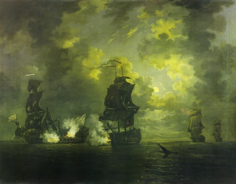 The Capture of the Foudroyant by HMS Monmouth, 28 February 1758
