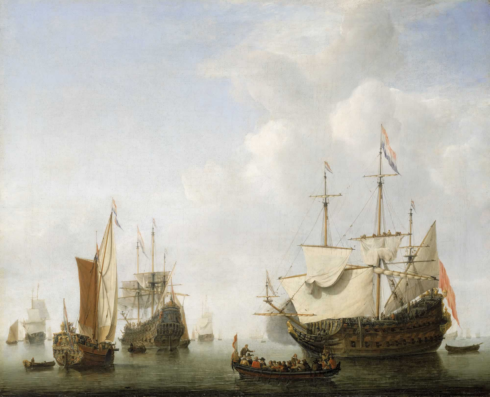 a-dutch-flagship-coming-to-anchor-with-a