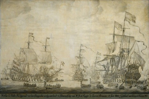 "Council of War on Board of the ""De Zeven Provinciën"", the Fagship of Admiral Michiel Adriaanzoon de Ruyter, June 10th 1666, before the Four Days Battle: an Episode from the Second Anglo-Dutch War"