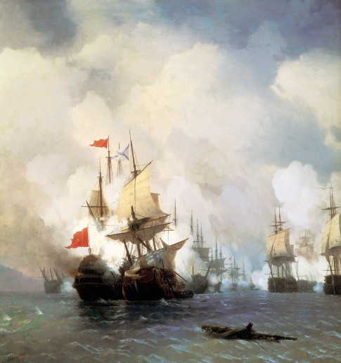 Battle of the Chios Straits July 5th 1770