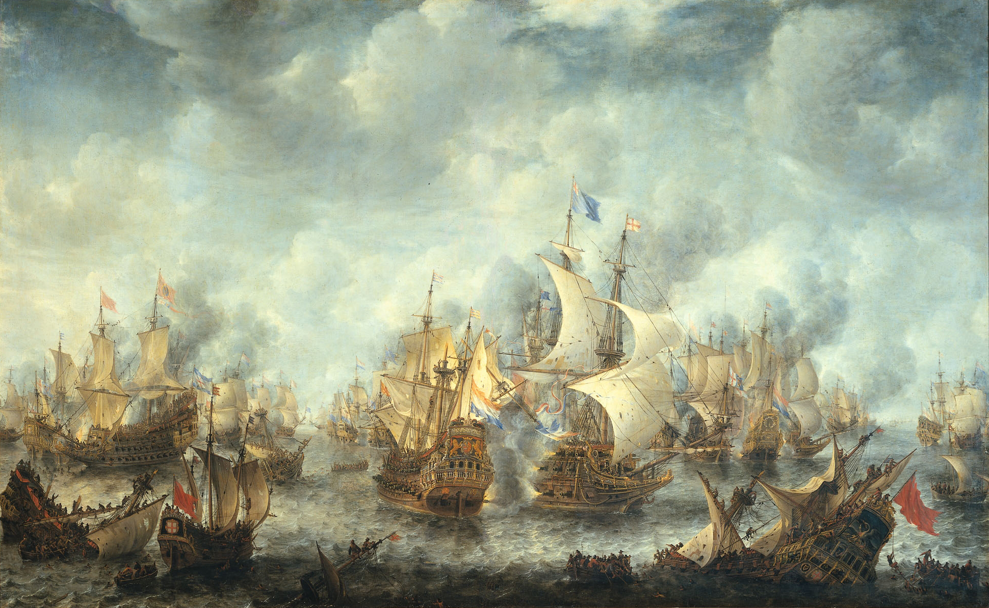Sea Battle Paintings