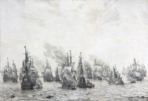 Slag bij Livorno (Battle of Leghorn), Willem Van de Velde the Elder