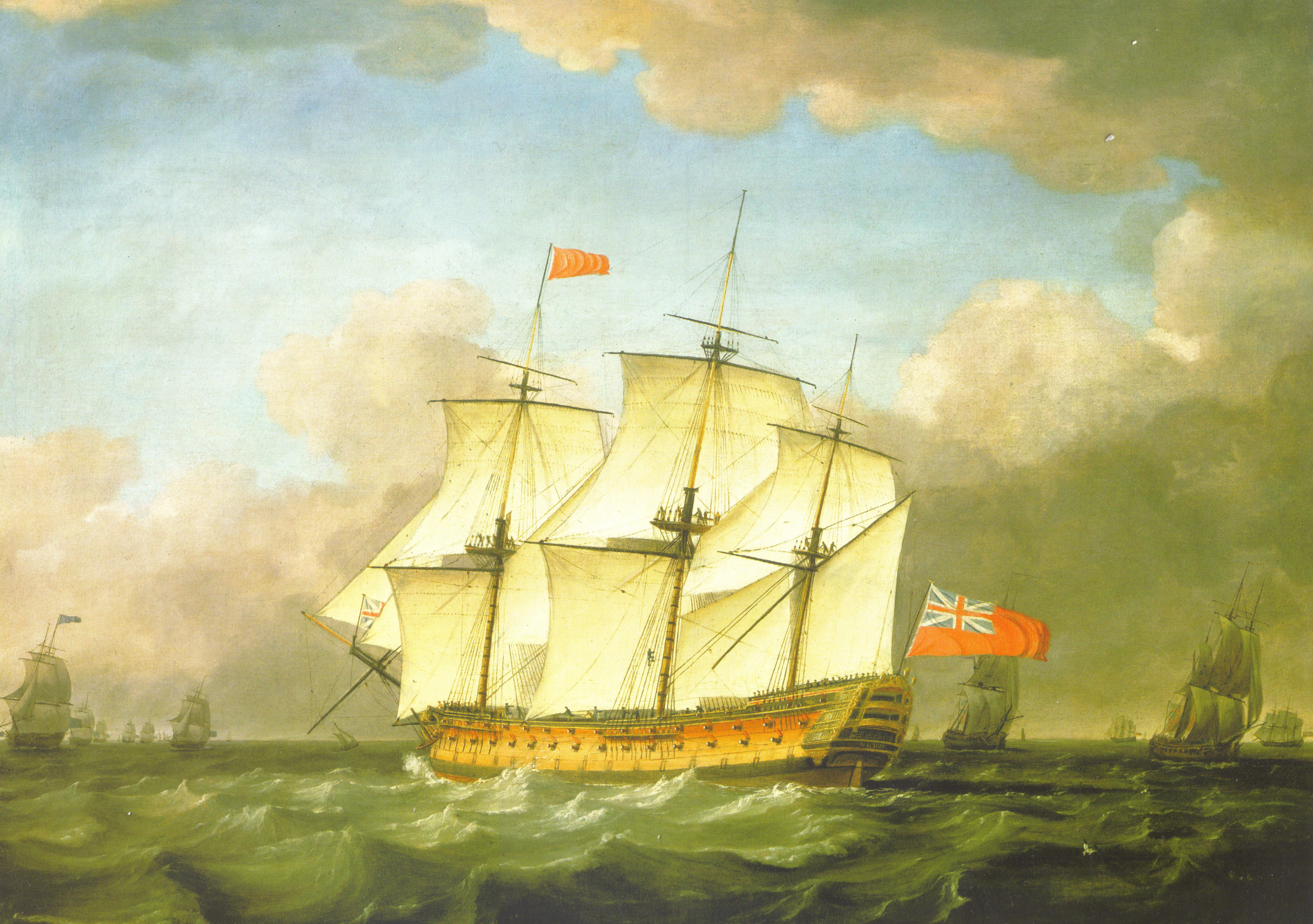 the-victory-leaving-the-channel-in-1793-