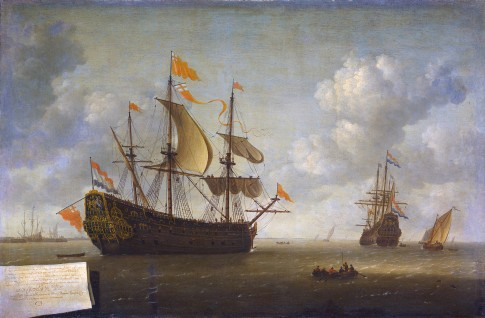Arrival of the English Flagship Royal Charles