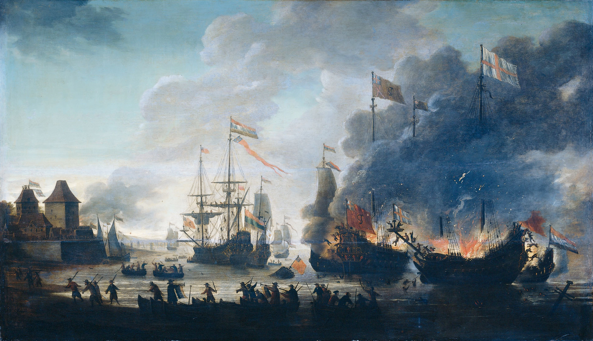 The-Dutch-burn-English-ships-during-the-