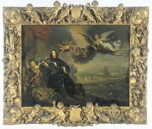 The Glorification of Cornelis de Witt, with the Raid on Chatham in the Background, from the workshop of Jan de Baen, replica of the original 1667