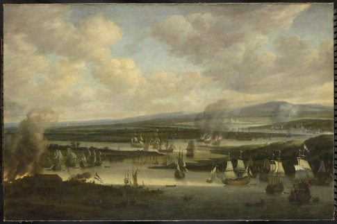 The burning of the English fleet near Chatham, June 1667