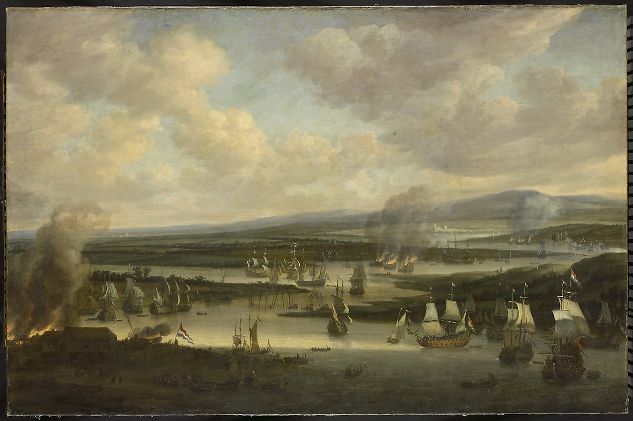 The-burning-of-the-English-fleet-near-Ch