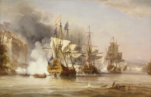 The Capture of Puerto Bello, 21 November 1739 by George Chambers, Senior 1836