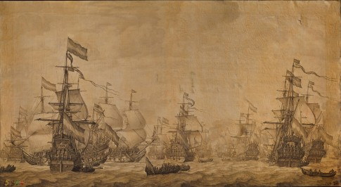The Dutch Fleet Under Sail Willem Van De Velder The Elder