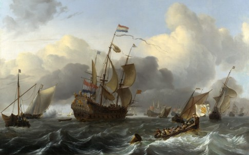 The Eendracht and a Dutch Fleet of Men-of-War before the Wind