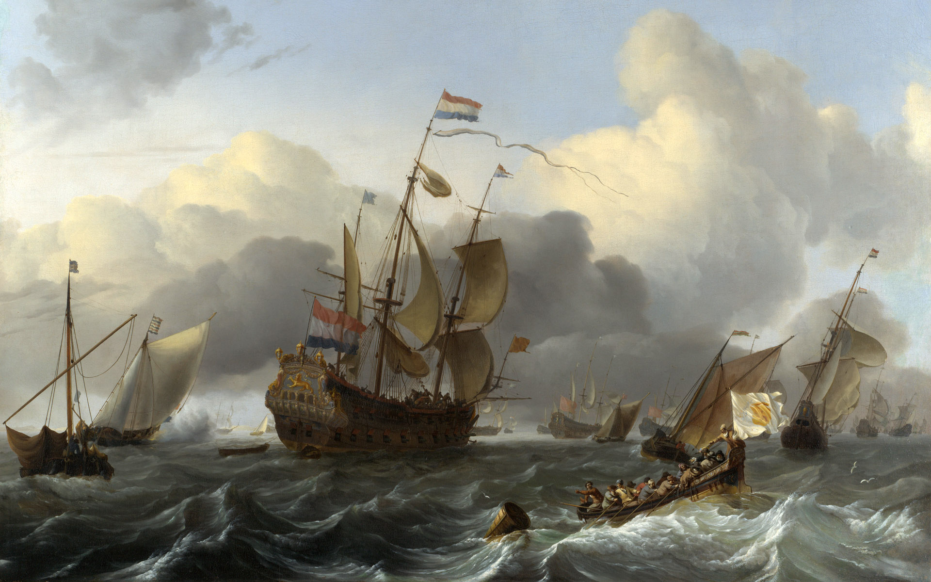 The-Eendracht-and-a-Dutch-Fleet-of-Men-o